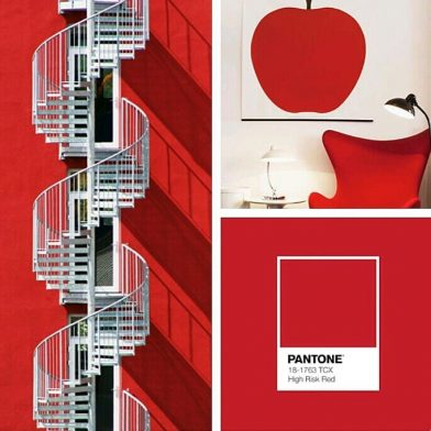 "Pantone color ""high risk red"""