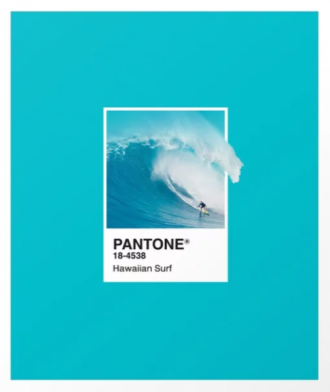 "Pantone color ""hawaiian surf"""