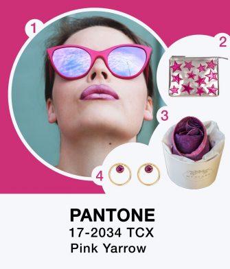 """Pantone color """"pink yarrow"""""""