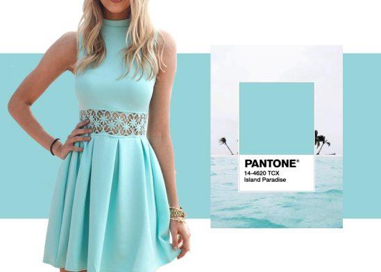 "Pantone color ""island paradise"""