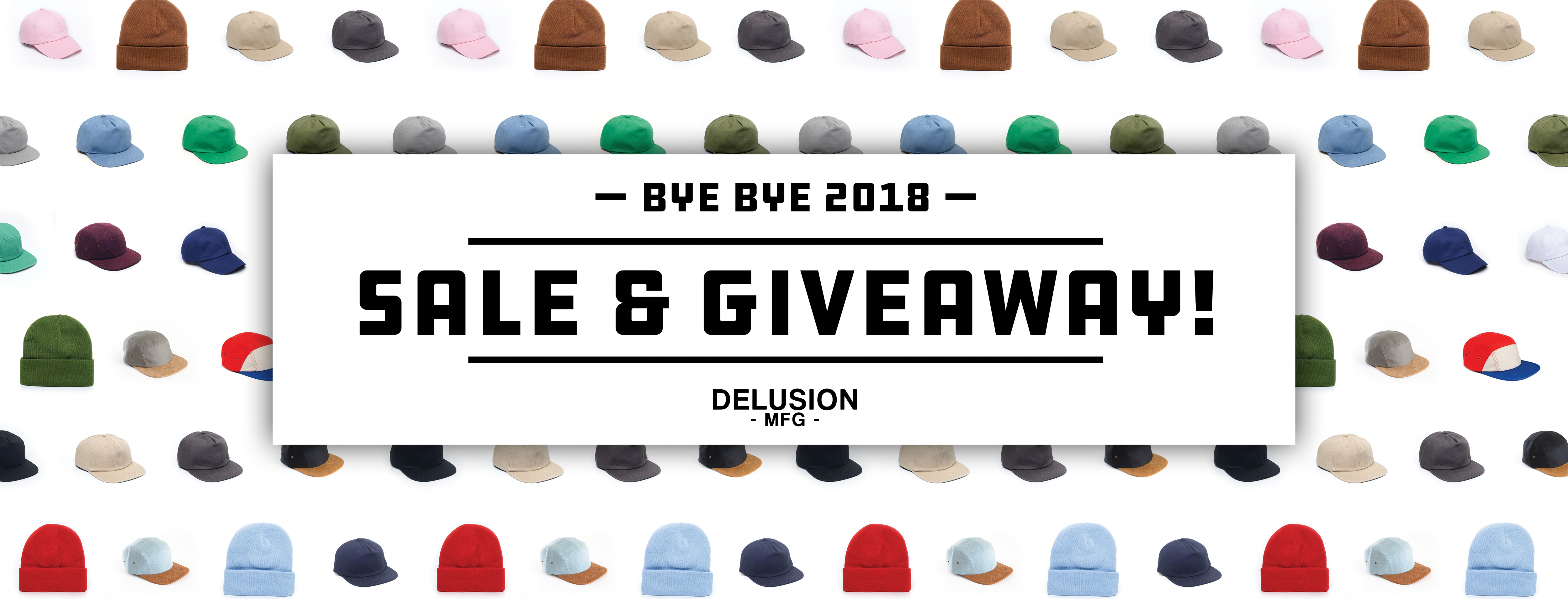Delusion MFG couldn't have grown so much without the help of our awesome customers. To end the year off right, we've decided to have a GIVEAWAY and SALE before 2019 sneaks around the corner. If you haven't had the chance to catch any of our deals in 2018, here's your last chance! We promise, it's a good one! 5 TOTAL WINNERS for the GIVEAWAY will be chosen. Don't think you'll win, don't worry, we have the SALE that fits your brand and business too.