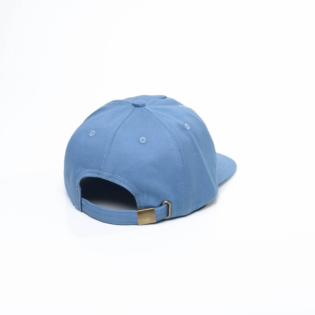 Light blue unconstructed 5 panel hat